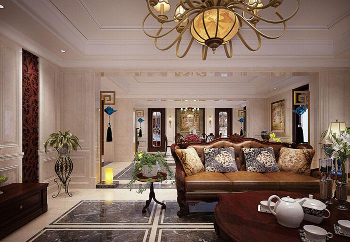城南华府250平米房子奢华欧式风格装修设计案例效果